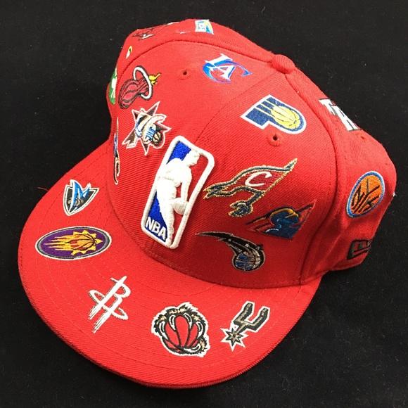 New Era NBA All Teams LogoRed Fitted Hat. M 5ac3dfe685e6051a458f12b2 3387c17191e